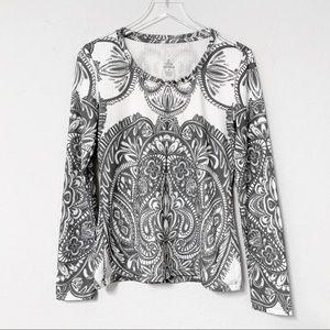 Prana | Breathe | Long Sleeve Paisley Top | Size M